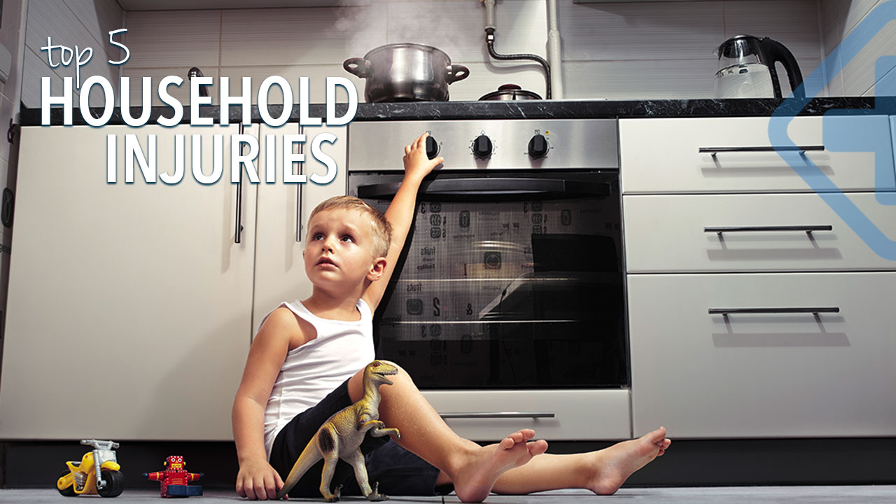 5 Common Household Accidents & Injuries,  and how to prevent them